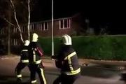 Chú cún nhiệt tình tham gia cứu hỏa