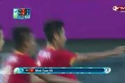Minh Tuấn ghi bàn thắng tặng vợ đang mang bầu