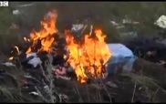 Clip máy bay Malaysia chở gần 300 người cháy vụn tại hiện trường