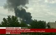 Quang cảnh đống tro tàn của máy bay Malaysia MH17