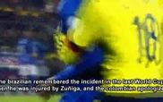 Neymar chửi bậy đối thủ sau khi bị đánh chảy máu mồm