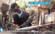 """""""Ironman"""" đời thực chế cánh tay robot từ phế liệu"""