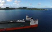 Xem siêu thuyền trọng tải có thể tự chìm để chuyên chở chiếc thuyền khác