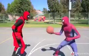 Deadpool vs Spiderman: Bóng rổ đường phố ai sẽ thắng?