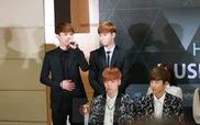 """EXO nói tiếng Việt trong họp báo """"Music Bank"""""""