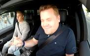 Justin Bieber quậy tưng trong xe cùng danh hài James Corden