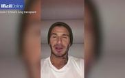 Beckham gửi video động viên nữ CĐV mắc bạo bệnh