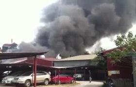 Cháy lớn ở đường Hồng Hà - Hà Nội