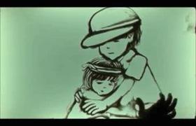 Dân mạng rớt nước mắt vì clip vẽ tranh cát em bé mồ côi