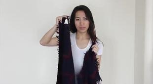 Cách choàng khăn thật ấm cho mùa Đông
