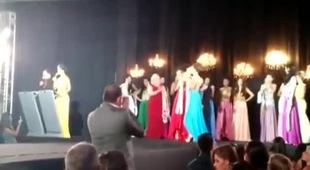 Á hậu ném vương miện của Hoa hậu Amazon 2015