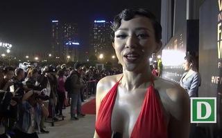 Tóc Tiên chia sẻ bí quyết giữ vóc dáng nóng bỏng. (Video: Mạnh Thắng).