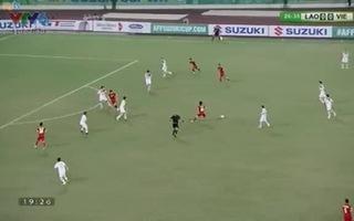 Minh Tuấn giúp Việt Nam dẫn Lào 1-0