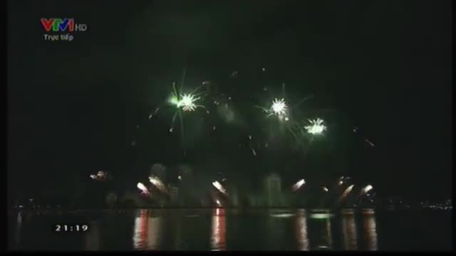 Phần trình diễn pháo hoa của đội Ba lan