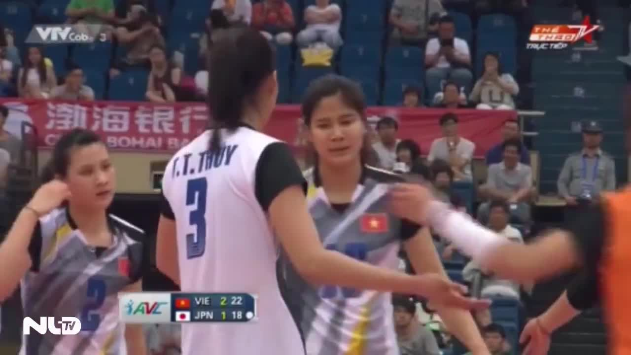 Bóng chuyền nữ Việt Nam lại đánh bại Nhật Bản, lọt vào top 5 châu Á