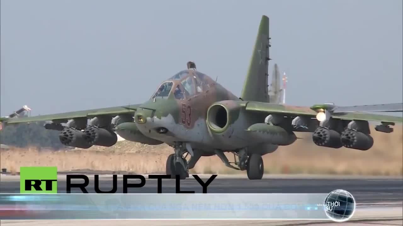 Máy bay ném bom tầm xa của Nga ném hơn 1.500 quả bom chống IS