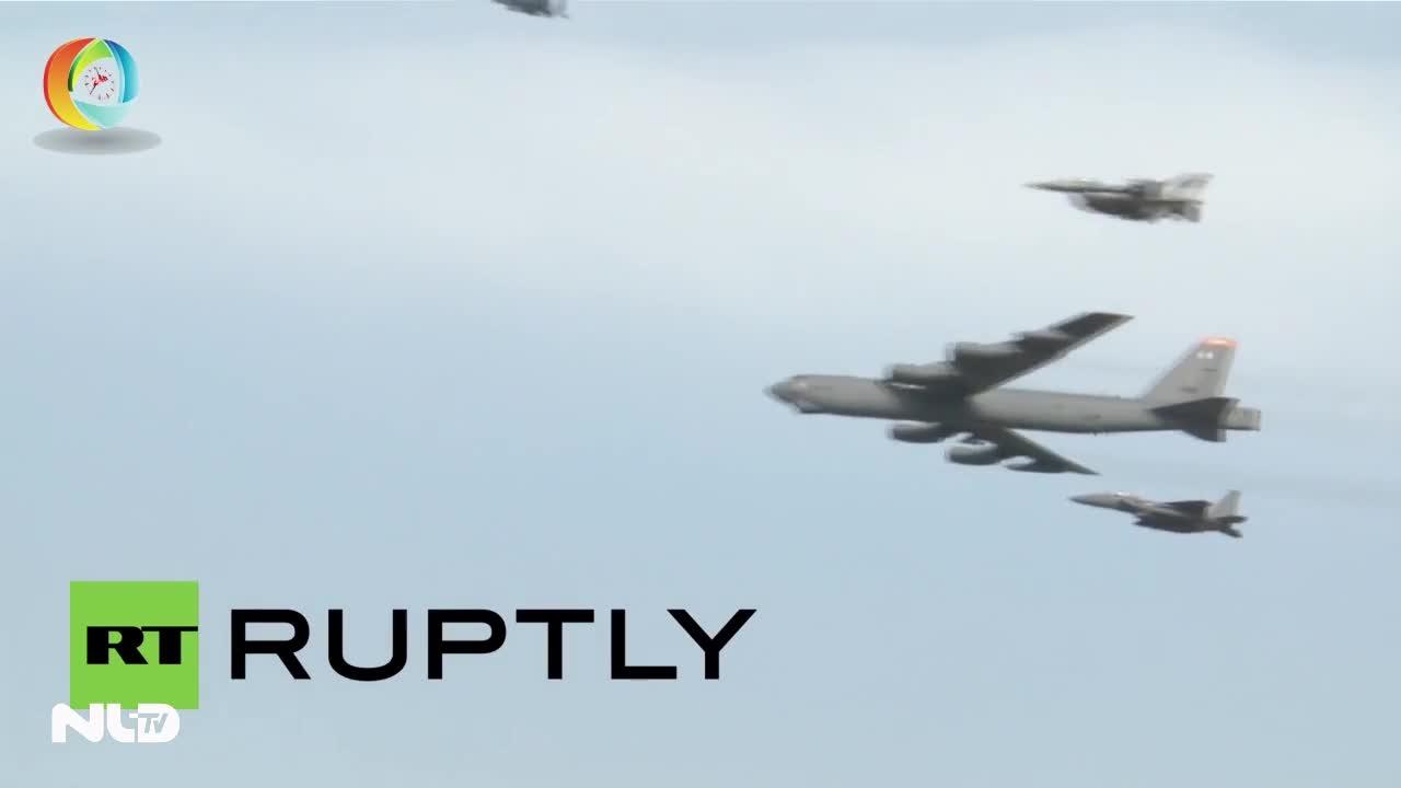 Mỹ điều B52, tàu sân bay tới Hàn Quốc