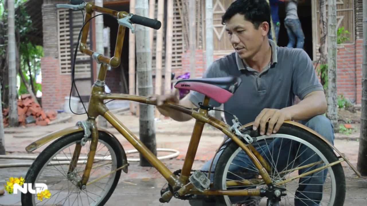 Phóng sự: Xe đạp bằng tre, sản phẩm từ Hội An phố cổ