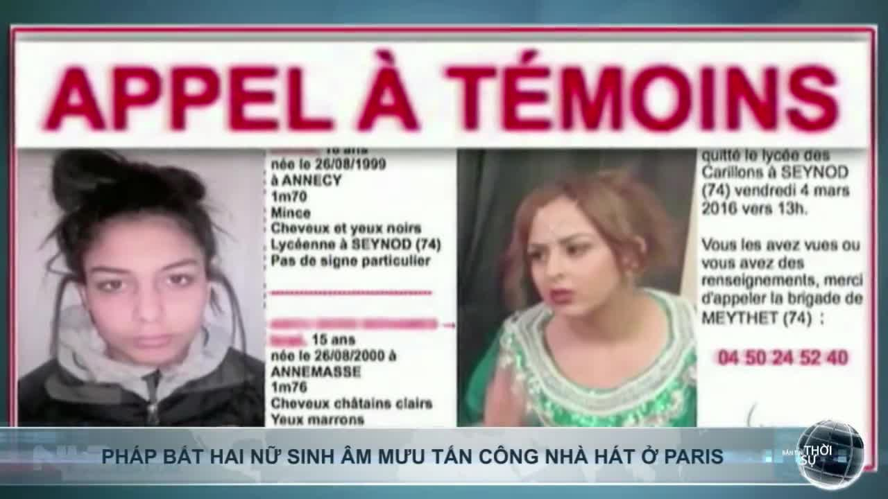 Pháp bắt hai nữ sinh âm mưu tấn công nhà hát ở Paris