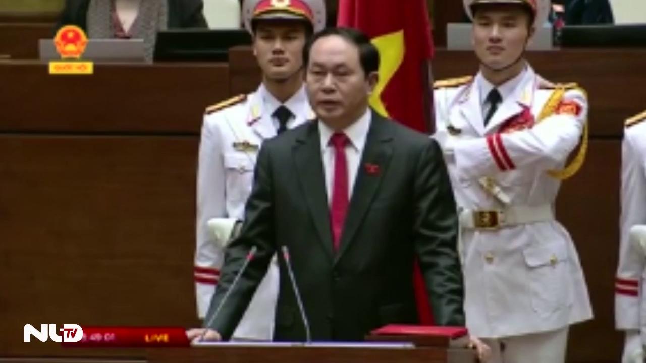 Clip: Chủ tịch nước Trần Đại Quang tuyên thệ nhậm chức