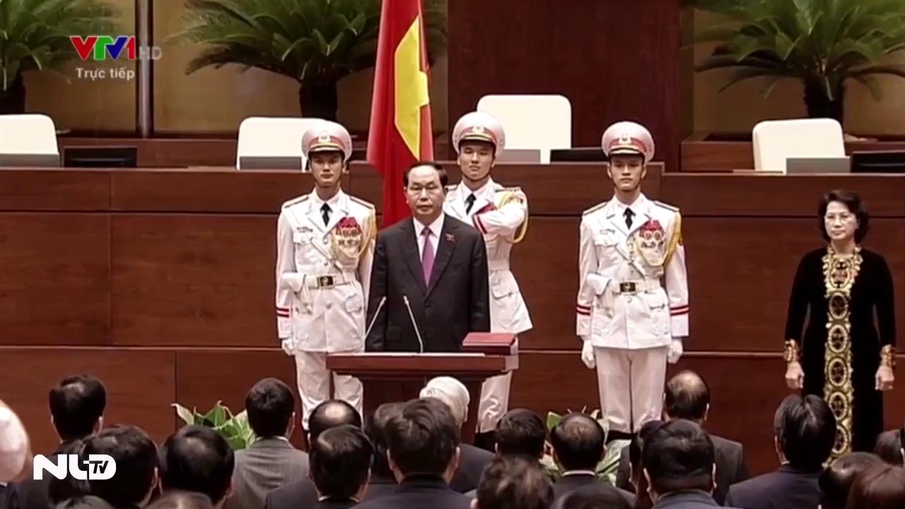 Clip Chủ tịch nước Trần Đại Quang tuyên thệ nhậm chức