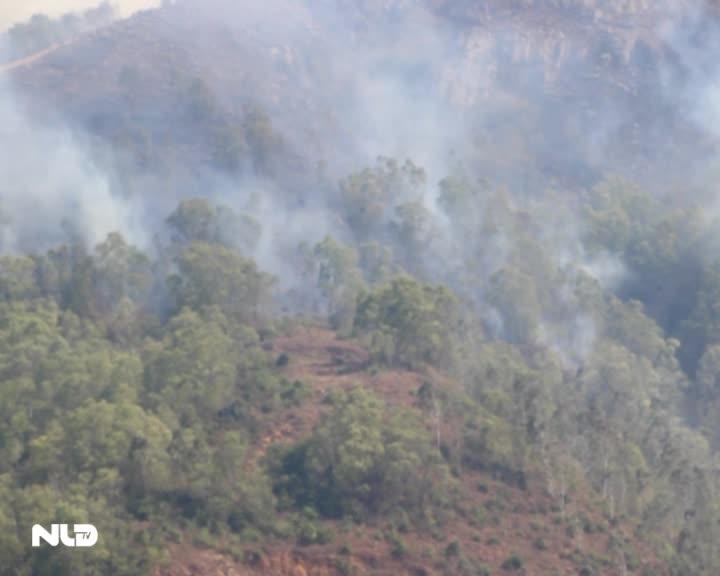 Bình Định: Núi bà Hỏa bốc cháy