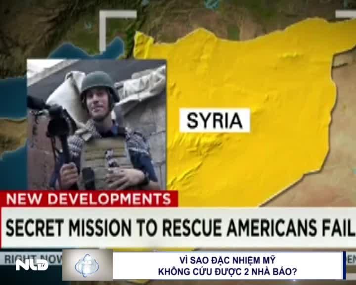Vì sao đặc nhiệm Mỹ không cứu được 2 nhà báo?