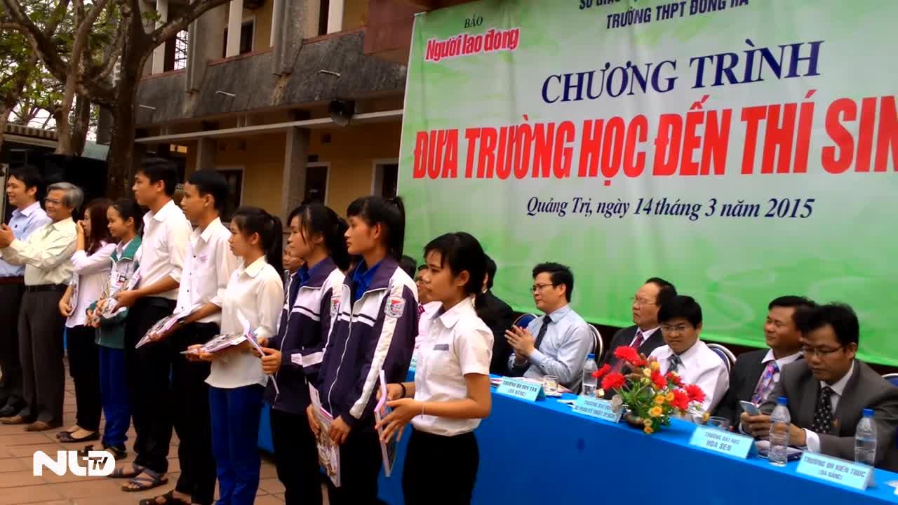 Hơn 1.500 thí sinh tham gia Đưa trường học đến thí sinh tại Quảng Trị