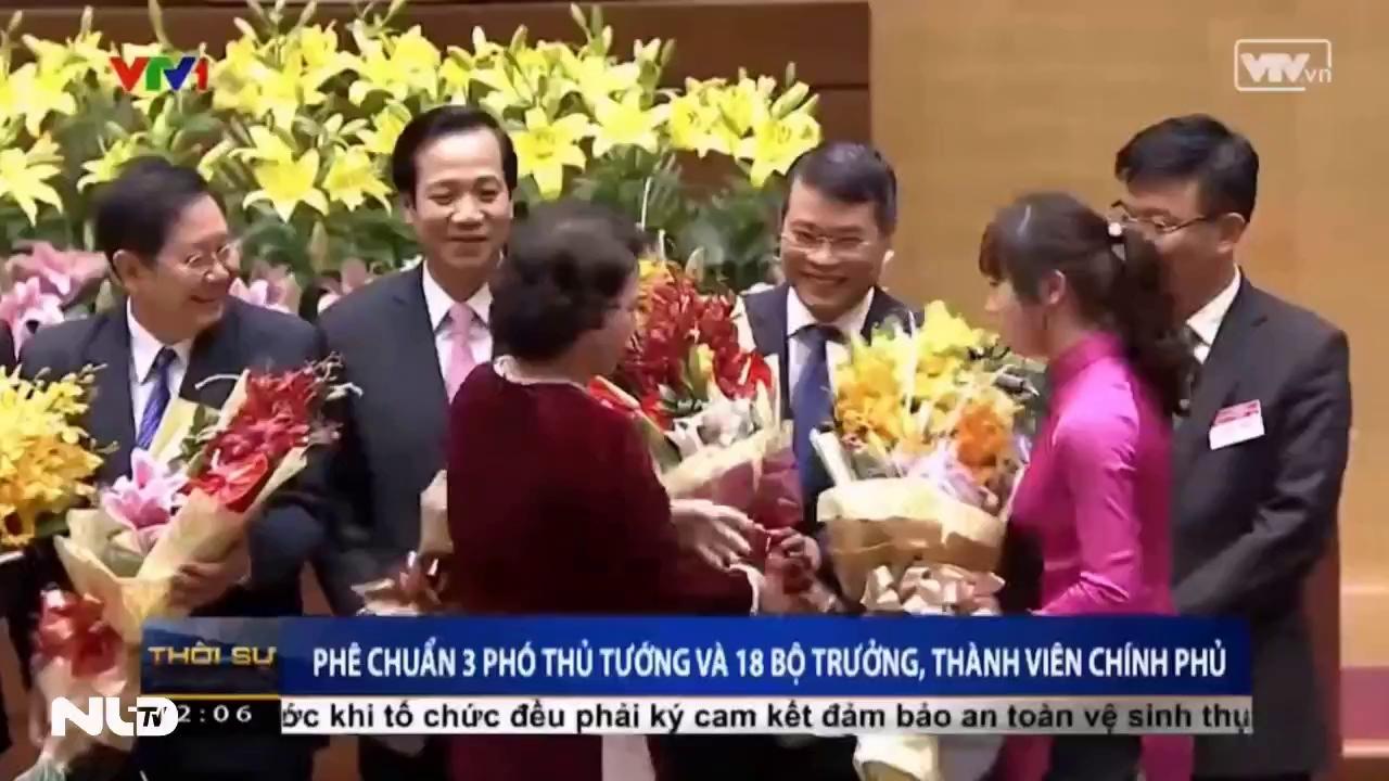 Quốc hội phê chuẩn 3 Phó Thủ tướng và 18 bộ trưởng, thành viên Chính phủ