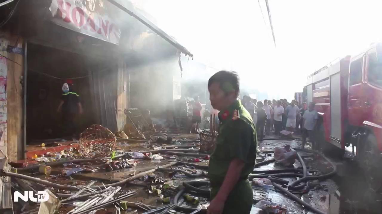 Cháy lớn tại chợ Sặt ở Biên Hòa, một người tử vong