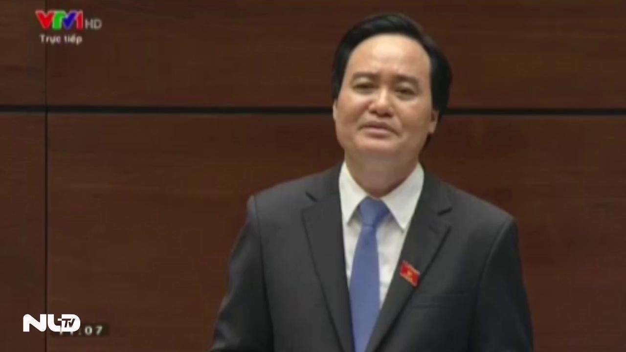 Clip: Bộ trưởng Bộ GD-ĐT trả lời chất vấn việc điều giáo viên đi tiếp khách