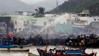 Hiện trường điêu tàn sau vụ cháy hàng chục nhà dân ở Nha Trang