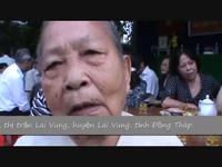 Người dân phấn khởi đến dự lễ khởi công cầu Dân trí tại thị trấn Lai Vung, huyện Lai Vung, tỉnh Đồng Tháp