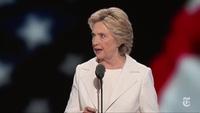 Bà Hillary Clinton phát biểu tại lễ bế mạc đại hội toàn quốc lần thứ 48 của đảng Dân chủ (DNC) tại thành phố Philadelphia, bang Pennsylvania, Mỹ.