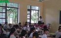 Lớp học bị cắt điện chiếu sáng và quạt mát