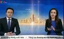 MC Hoài Anh bật cười trên sóng truyền hình.