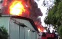 Cháy kho hoá chất trong khu đất quân đội