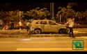 Ô tô kéo lê xe máy sau tai nạn, cả 2 xe cùng bốc cháy