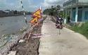 Video: Sụt lún nghiêm trọng đường bờ kè sông Bạc Liêu.
