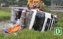 Lạng Sơn: Xe tải lao xuống ruộng, tài xế thoát chết