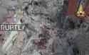 Thị trấn Amatrice bị biến thành đống đổ nát khổng lồ sau động đất
