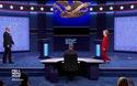 Clinton và Trump bắt tay trước khi bước vào tranh luận trực tiếp