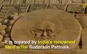 Lâu đài cát cao nhất thế giới được tạo từ bàn tay nghệ sĩ Ấn Độ