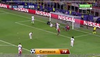 Carrasco khóa môi bạn gái hoa hậu sau khi ghi bàn vào lưới Real Madrid