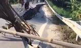 Vết nứt khổng lồ trên quốc lộ