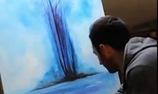 Video thu lại quá trình tạo ra một bức họa chuyển màu vẽ của họa sĩ Cristoforo Scorpiniti.