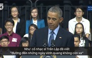 Tổng thống Obama nhắc đến cố nhạc sĩ Trần Lập