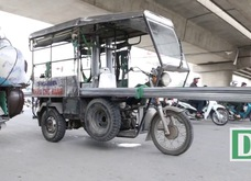 CSGT thu giữ nhiều xe tự chế chở hàng cồng kềnh