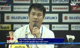 HLV Nguyễn Hữu Thắng trả lời phỏng vấn sau trận