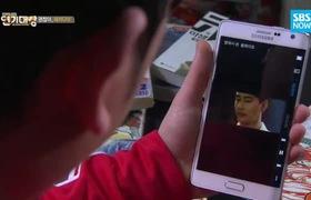 """Cười """"nổ sân khấu"""" vì clip """"chuyện tình"""" Jo In Sung - Kim Soo Hyun"""
